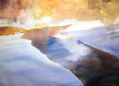 Roland Lee demonstrates how to paint a snow scene in watercolor