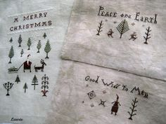 Primitive Christmas stitching
