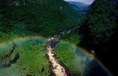 Rainbow in Amazonas, Brazil