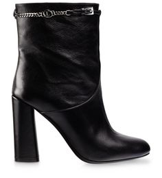 #DIOR ANKLE BOOT Black grained leather, 8 cm