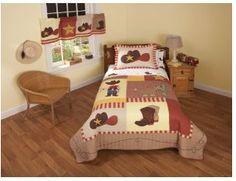 kidscottonbedding.com - Horses & Western  Cowboy Quilt Set - 100 % Cotton