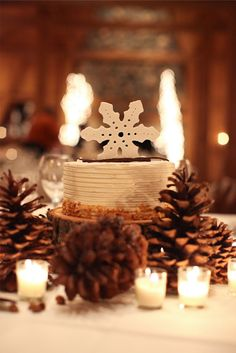 pretty winter party decorations