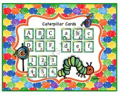 Caterpillar Alphabet and Number Cards! Enter for your chance to win 1 of 5.  Caterpillar Alphabet and Number Cards (22 pages) from Fun Printables for Preschoolers on TeachersNotebook.com (Ends on on 12-31-2014)  Caterpillar Alphabet & Number Cards