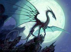 Moonveil Dragon - Todd Lockwood