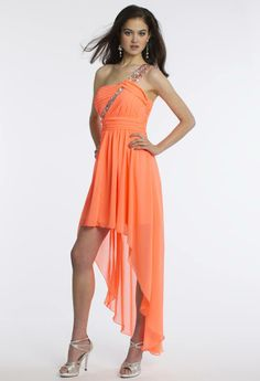 Camille La Vie Short Party Prom Dress with High-Low Silhouette