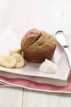Chobani Yogurt -Banana Muffins - Chobani Yogurt (Calories 180, Calories from Fat 60, Total Fat 7g, Saturated Fat 0.5g, Trans Fat 0g, Cholesterol 10mg, Sodium 140mg, Total Carbohydrate 29g, Dietary Fiber 2g, Sugars 16g, Protein 3g)