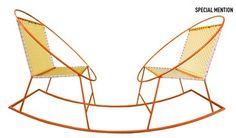 mecedorama, hobb twin, award 2013, hobb chair, welding projects, rocking chairs, rock chair, weld project, design