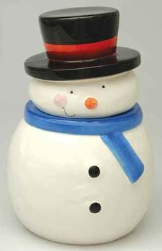 Snowman Cookie Jar by Sakura