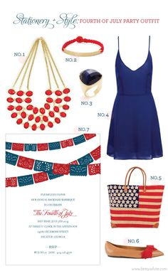 Stationery + Style: Fourth of July Party Outfit