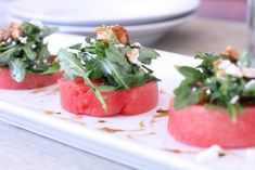 Watermelon Salad with Arugula, Goat Cheese, and Candied Walnuts - Danielle Walker's Against All Grain