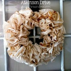 #Tea-Stained Coffee Filter #Wreath Atkinson Drive