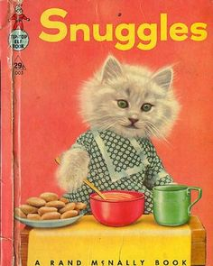 snuggles makes dinner