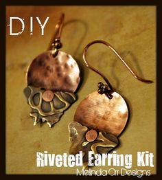 Riveting Earring tutorial melinda orr, metal clay jewelry, rivet earring, jewelri earring, new nails, clay jewelri, orr design, nail rivet, crafti inspir