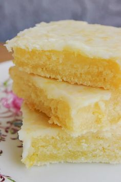 """Cakey Lemon Bar """"Brownies"""" - This is no lemon bar. This is a lemon brownie and it tastes as wonderful as it looks!"""