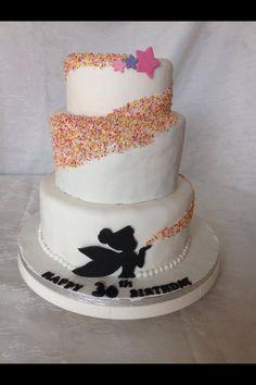 30th birthday tinkerbell cake