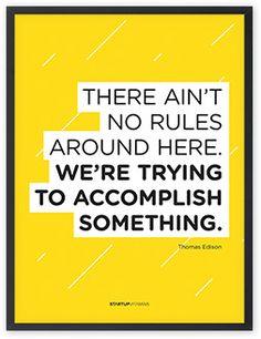 Rules? Break 'em all! #quotes #motivation