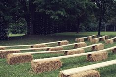 Barn Wedding Ceremony Ideas...would place an extra hay bale in the center
