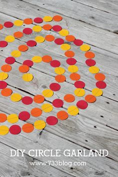 Circle Paper Garland and Astrobrights Paper Giveaway