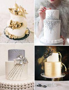 Glam Wedding Cake ideas and inspiration | onefabday.com