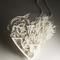 Clockwork love paper by Tjep