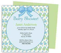 shower invitations, diy shower, invit templat, babi shower, baby showers