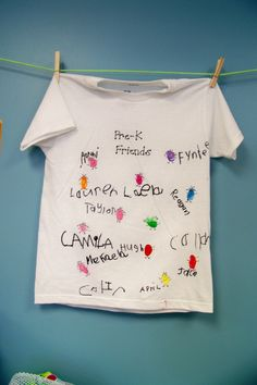 Class T-Shirt (and name writing practice :)