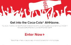 Enter to win Cokes new contest for concerts. https://cocacola.promo.eprize.com/lnconcert/