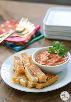 Mini Grilled Cheese Sandwiches @inspiredbycharm