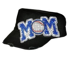 Sequin Cadet Cap Baseball MOM by TheSassyBee on Etsy, via Etsy.