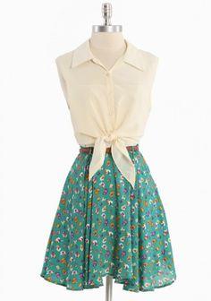 Spring Crossings dress