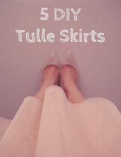5 DIY Tulle Skirts