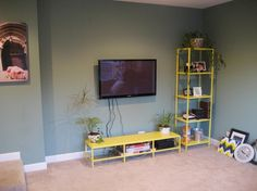 Fiscally Chic: Hiding TV Cords and Cables Hiding Tv Cords, House Design, Wall Mount, Fiscal Chic, Cable, Dreams House, Mount Tv, Snarky Comments, Practice House