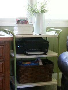 Old retro cart for computer printer/storage