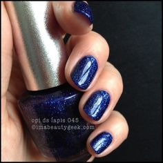 OPI Lapis DS 045 with top coat. See lotsa DS swatches on click-thru to imabeautygeek.com