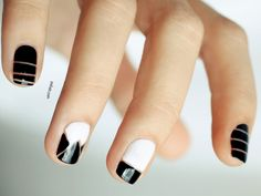 black and white nail art edgy http://www.ivillage.com/nail-art-designs-new-years-eve/5-a-555844