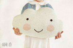 Knit Cloud Pillow :) ECRU knit cloud, cloud pillow