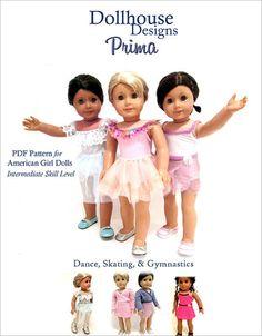 Dollhouse Designs Prima Dancewear 18 inch Doll Clothes Pattern | Pixie Faire