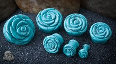 Body Art Forms synthetic turquoise plugs! I have to remember to get these when I get up to a 2 or 0 gauge.