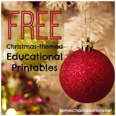 Free Christmas theme educational printables and a linky to add your own to the list!