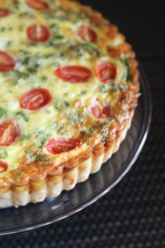 "Pancetta, Ricotta and Herb Quiche... a great ""make-ahead"" breakfast for the week!"