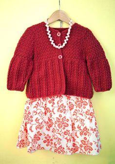 crocheted children's cardigan - Berroco® Free Pattern | Ellie