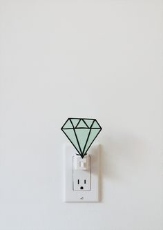 diy gem nightlight.