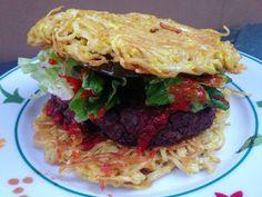 Vegan Crunk - vegan ramen burger!!!!