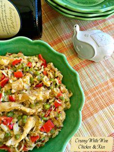 Creamy White Wine Chicken & Rice ~ The Complete Savorist