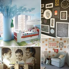 10 Real Design Ideas to Steal For Your Kids' Room: Want your little one's room to be both comfortable and cutting edge? We've rounded up 10 on-trend design tips from our favorite real nurseries, created by professional designers, interior-expert moms, and real women with seriously incredible taste. From chalkboard walls and art to over-the-top painted and accessorized ceilings, from sophisticated details to quirky extras, these nursery trends are the latest for your home's smallest residents.... kids room design, kid rooms, nurseri, chalkboard wall, design idea, creativ idea