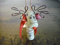 Reindeer Christmas Ornament by WineCountryCrafters on Etsy, $8.00