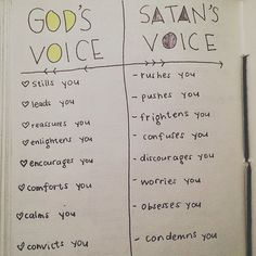So good! The difference between God's voice and Satan's.