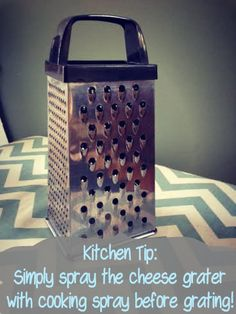 Kitchen Tip! Grate Cheese easier with this tip!