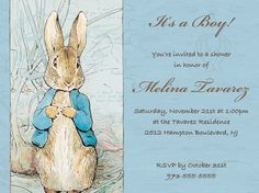 rabbits, beatrix potter, peter rabbit, suz shower, shower idea, nurseri idea, babi shower
