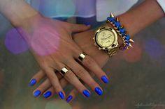 Electric blue nail polish..so pretty